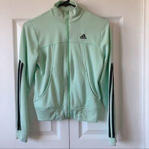 Women's Adidas Teal & Black Athletic Jacket